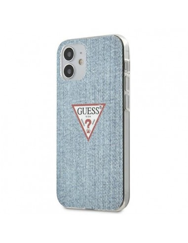 Capa Traseira Jeans Colletion Guess Iphone 12 Mini - Azul l LMobile.pt