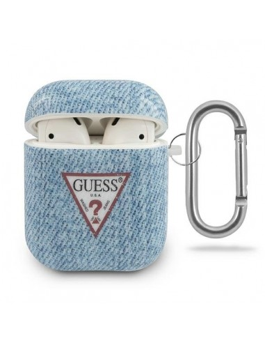 Capa Airpods Jeans Colletion Guess Airpods - Azul l LMobile.pt