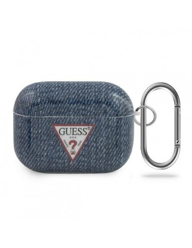 Capa Airpods Jeans Colletion Guess Airpods Pro - Azul Escuro l LMobile.pt