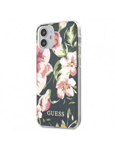 Capa Traseira Flowe Colletion Guess Iphone 12 Mini - Azul l LMobile.pt