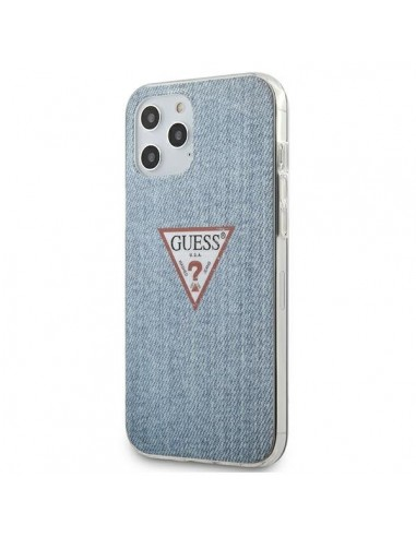 Capa Traseira Jeans Colletion Guess Iphone 12 Pro Max - Azul l LMobile.pt