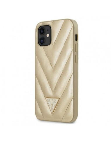 Capa Traseira V-Quilted Colletion Guess Iphone 12 Mini - Dourado l LMobile.pt