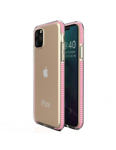 Capa Silicone Spring Colorful Frame Iphone 11 Pro - Rosa