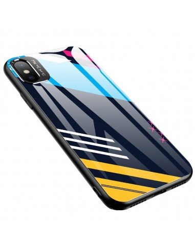 Proteção De Camera Color Glass Case Durable Cover Tempered Glass Back And Iphone Xs / Iphone X Pattern 2 l LMobile.pt