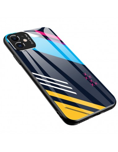 Proteção De Camera Color Glass Case Durable Cover Tempered Glass Back And Iphone 11 Pattern 2 l LMobile.pt