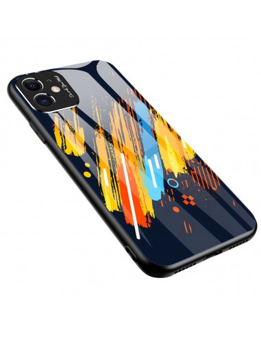 Proteção De Camera Color Glass Case Durable Cover Tempered Glass Back And Iphone 11 Pattern 5 l LMobile.pt