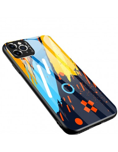 Proteção De Camera Color Glass Case Durable Cover Tempered Glass Back And Iphone 11 Pro Max Pattern 1 l LMobile.pt