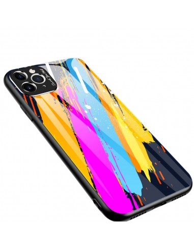 Proteção De Camera Color Glass Case Durable Cover Tempered Glass Back And Iphone 11 Pro Max Pattern 3 l LMobile.pt
