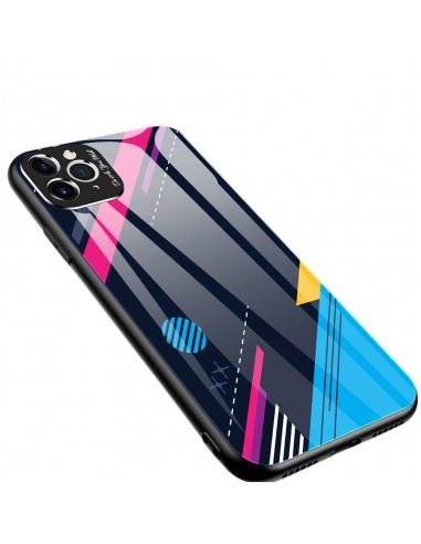 Proteção De Camera Color Glass Case Durable Cover Tempered Glass Back And Iphone 11 Pro Pattern 4 l LMobile.pt