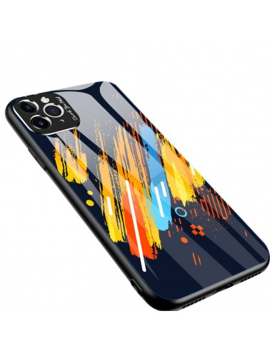 Proteção De Camera Color Glass Case Durable Cover Tempered Glass Back And Iphone 11 Pro Pattern 5 l LMobile.pt
