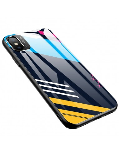 Proteção De Camera Color Glass Case Durable Cover Tempered Glass Back And Iphone Xr Pattern 2 l LMobile.pt