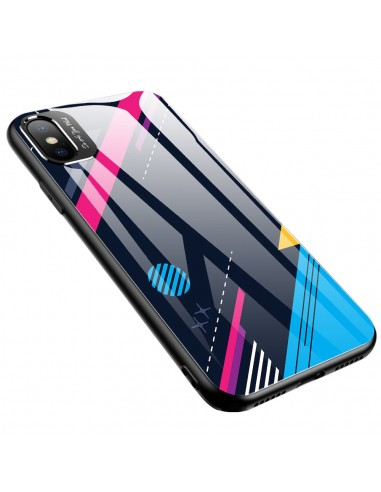 Proteção De Camera Color Glass Case Durable Cover Tempered Glass Back And Iphone Xr Pattern 4 l LMobile.pt