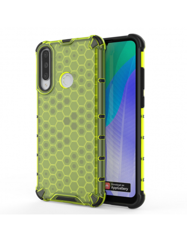 Capa Silicone Honeycomb Lmobile Huawei Y6P - Verde l LMobile.pt