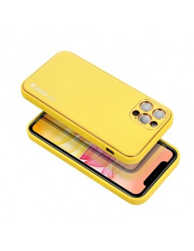 Capa Forcell Leather Samsung Galaxy A42 5G Amarelo