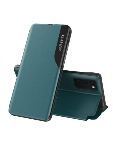 Capa Eco Leather View Elegant Bookcase Type Kickstand Samsung Galaxy A72 4G Verde l LMobile.pt