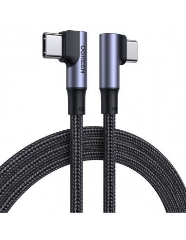 Cabo Ugreen Elbow Typ C - Typ C Cable Quick Charge Power Delivery 100 W 5 A 2 M Preto (Us335 70698)