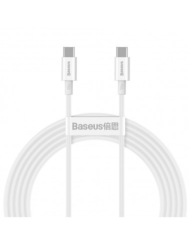 Cabo Baseus Superior Usb - Usb Cable Quick Charge / Power Delivery / Fcp 100W 5A 20V 2M Branco (Catys-C02)